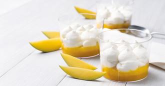 TK-Dessert Joghurtcreme mit Mangopüree