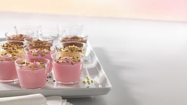 Pudding ohne Kochen Erdbeer-Geschmack