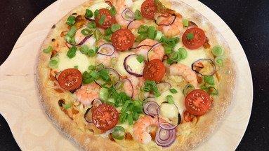 Steinofenpizza Hot Gamba